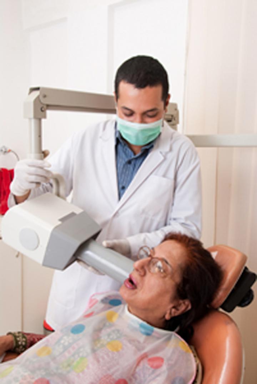 Dentist Taking Xray