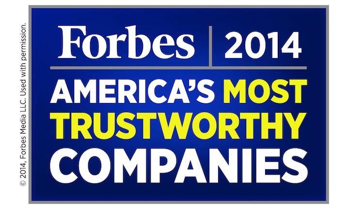 Forbes Most Trustworthy 2014