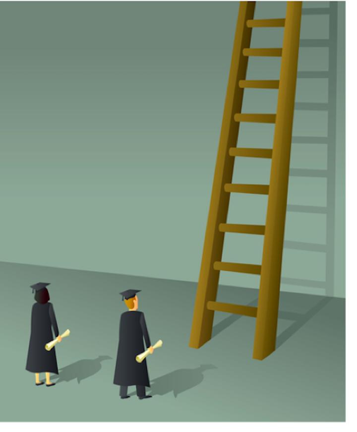 Graduates Ladder Border