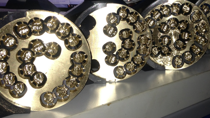 Milled Gold Crowns