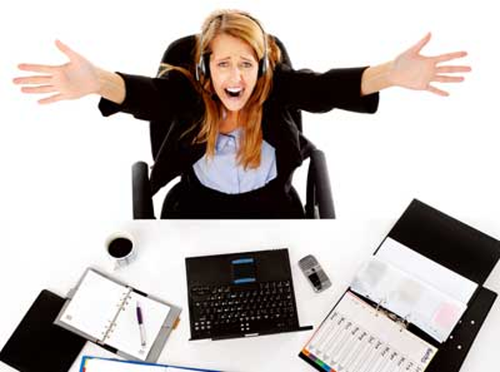 Stressed Dental Office Manager