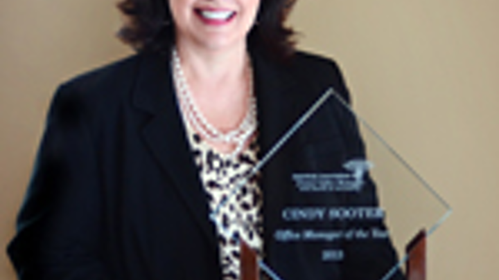 Cindy Sooter - AADOM Office Maager of the Year
