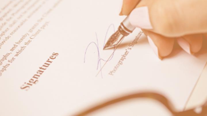 Signature On Paper Glasses Orange