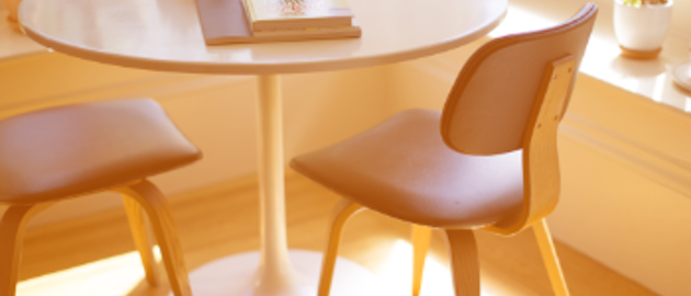 Two Seater Table Books Orange